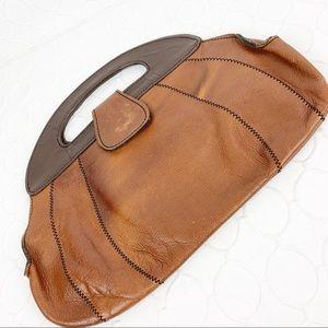 Handbags - Brown Leather Vintage Clutch